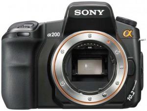 Sony Alpha DSLR-A200 front