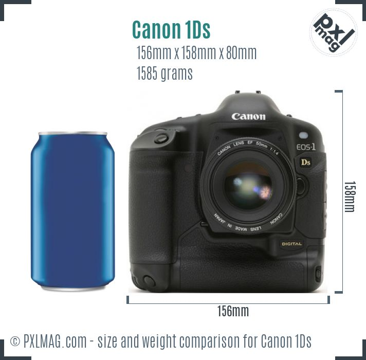 Canon EOS-1Ds dimensions scale