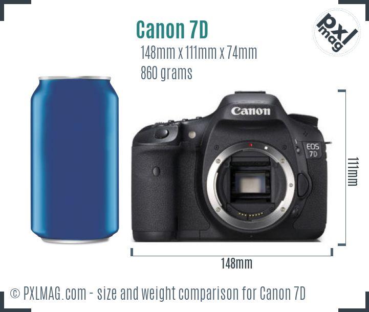 Canon EOS 7D dimensions scale
