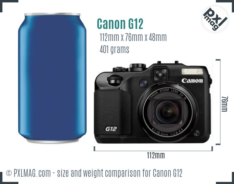 Canon PowerShot G12 dimensions scale