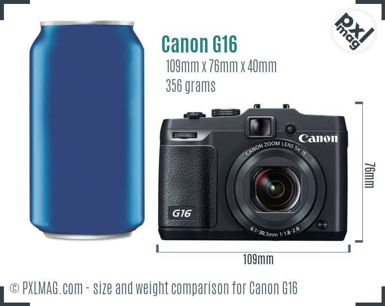 Canon PowerShot G16 dimensions scale