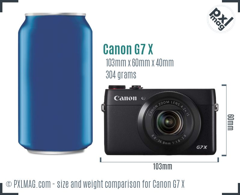 Canon PowerShot G7 X dimensions scale