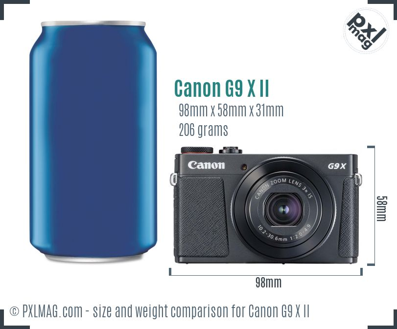 Canon PowerShot G9 X Mark II dimensions scale