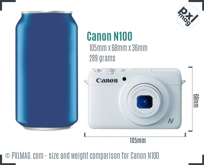 Canon PowerShot N100 dimensions scale