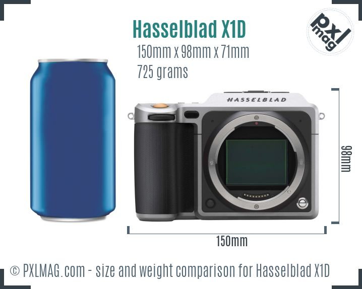 Hasselblad X1D dimensions scale