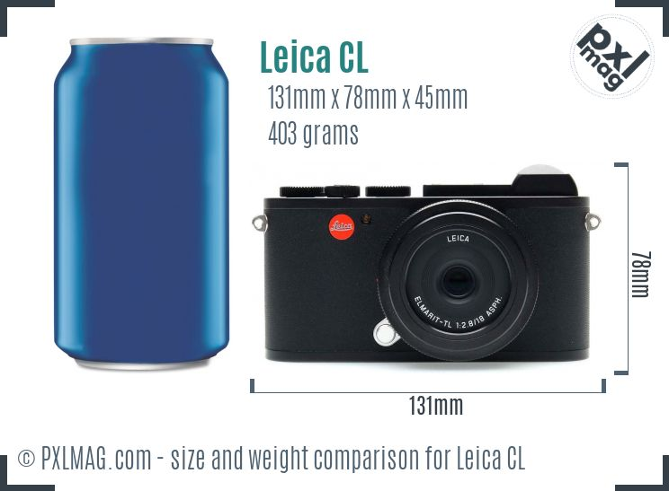 Leica CL dimensions scale