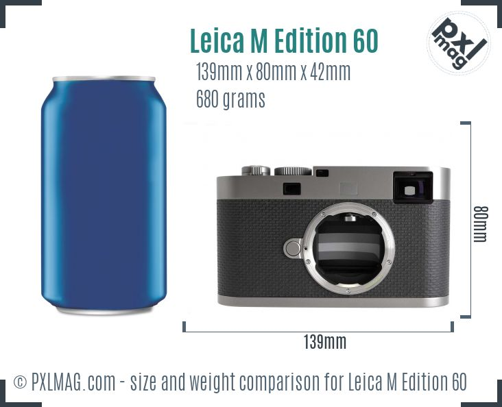 Leica M Edition 60 dimensions scale