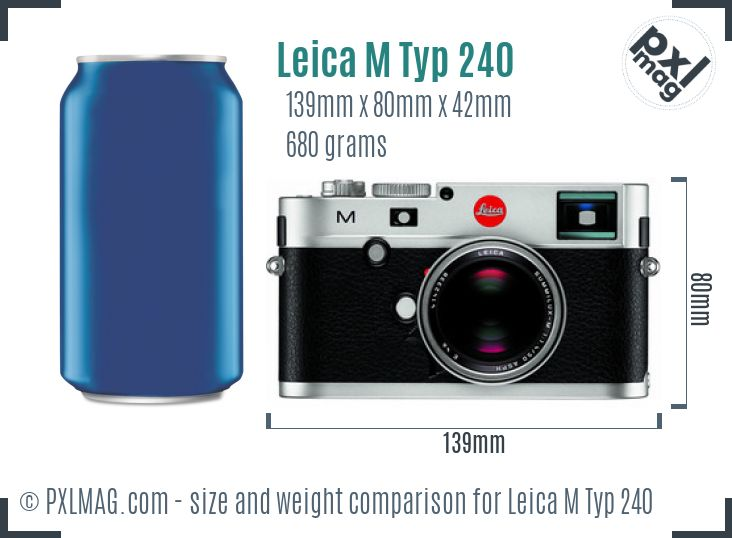 Leica M Typ 240 dimensions scale