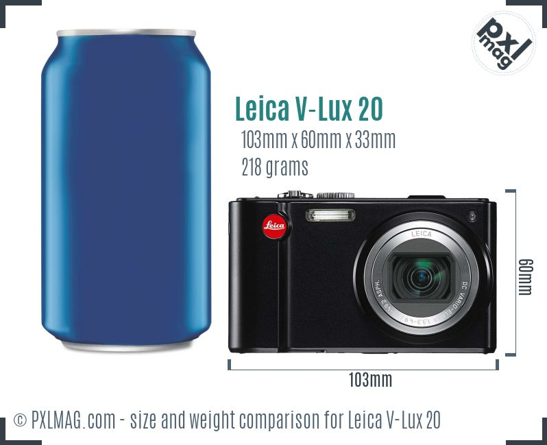 Leica V-Lux 20 dimensions scale