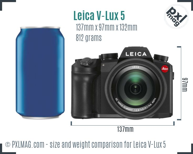 Leica V-Lux 5 dimensions scale