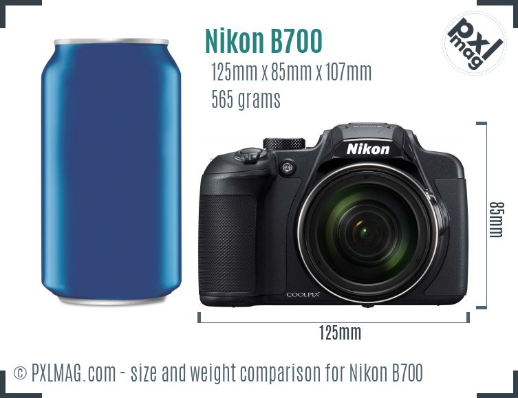 Nikon Coolpix B700 dimensions scale