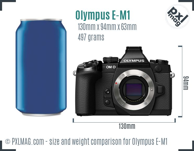 Olympus OM-D E-M1 dimensions scale