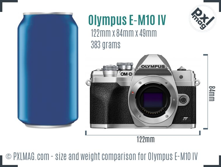 Olympus OM-D E-M10 IV dimensions scale