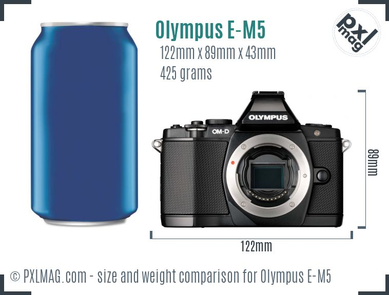 Olympus OM-D E-M5 dimensions scale
