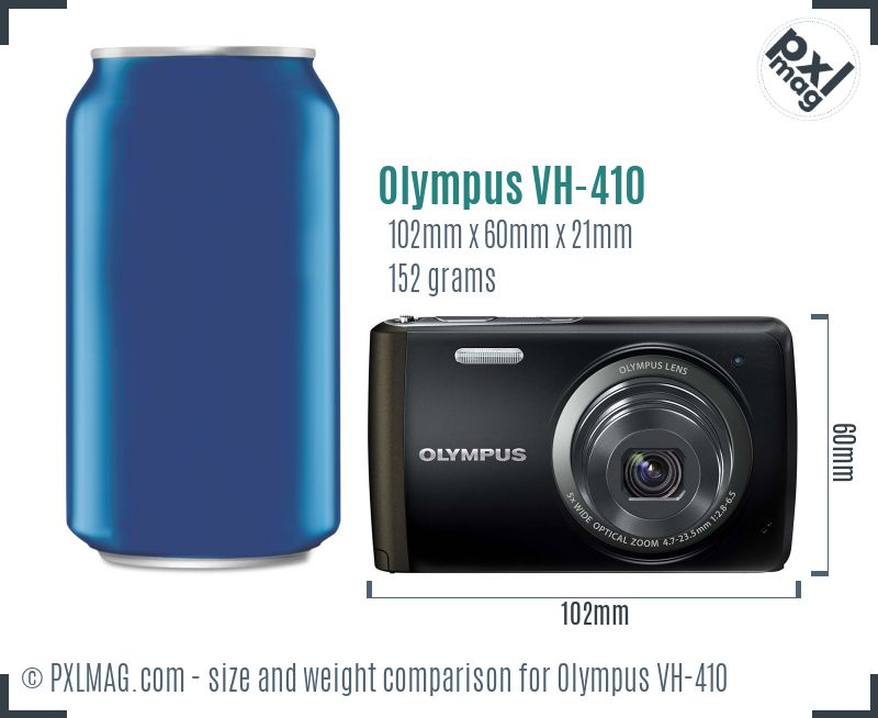 Olympus VH-410 dimensions scale