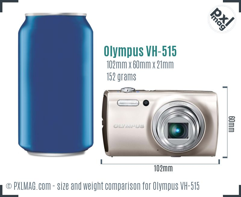 Olympus VH-515 dimensions scale