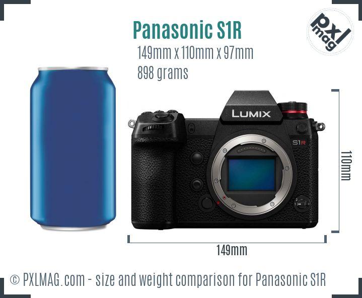 Panasonic Lumix DC-S1R dimensions scale