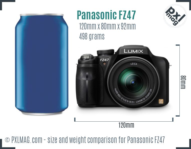 Panasonic Lumix DMC-FZ47 dimensions scale