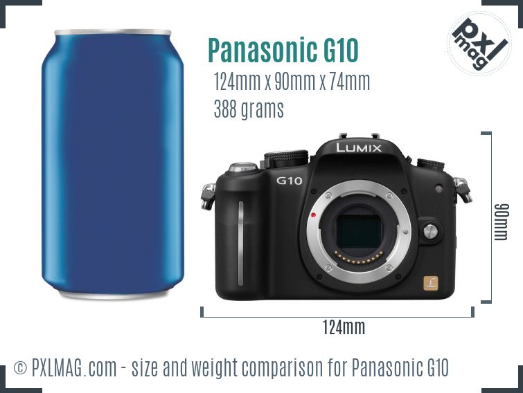 Panasonic Lumix DMC-G10 dimensions scale