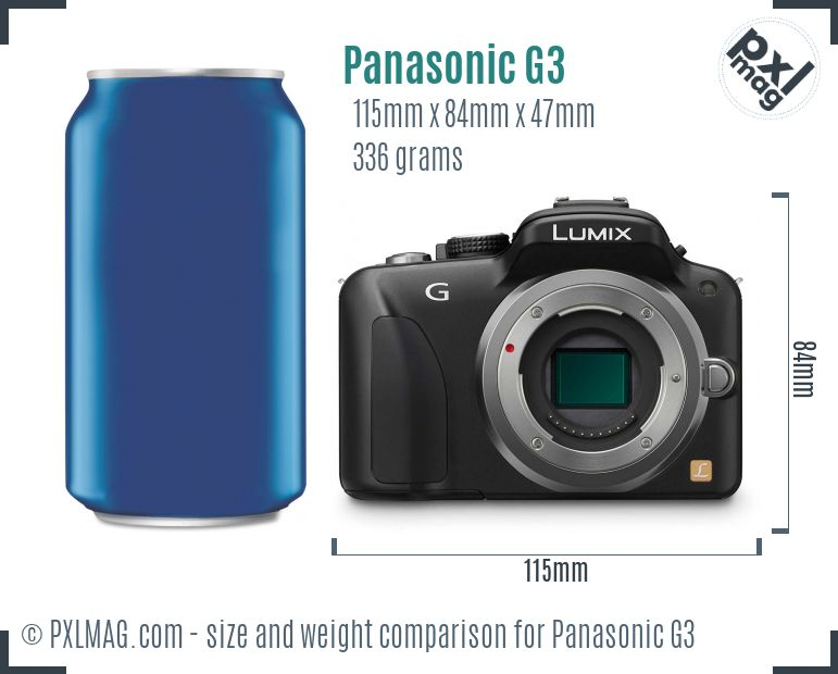 Panasonic Lumix DMC-G3 dimensions scale