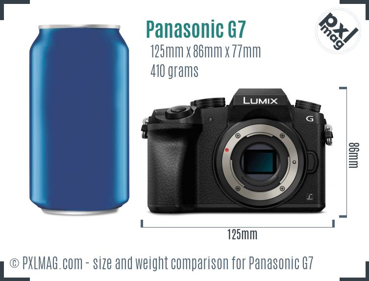 Panasonic Lumix DMC-G7 dimensions scale