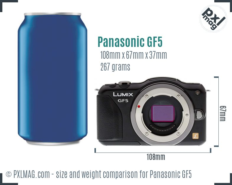 Panasonic Lumix DMC-GF5 dimensions scale