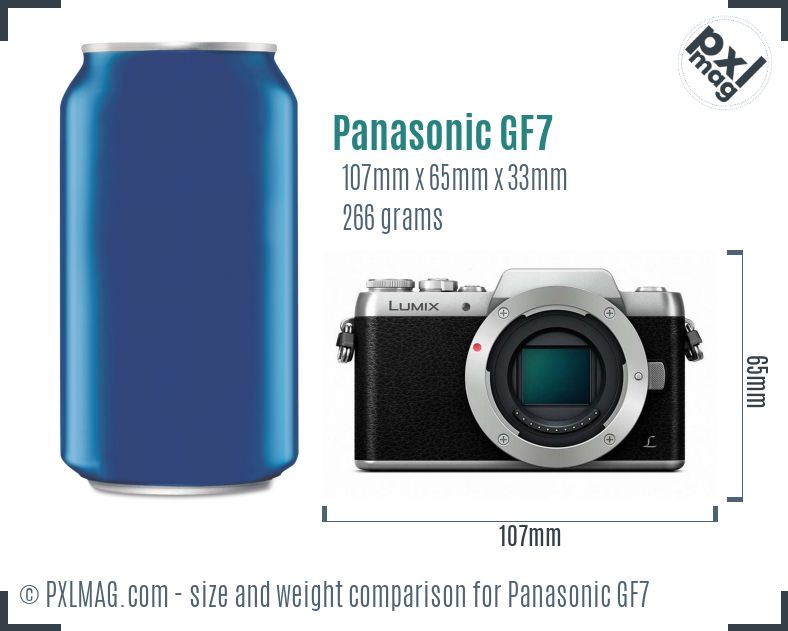 Panasonic Lumix DMC-GF7 dimensions scale