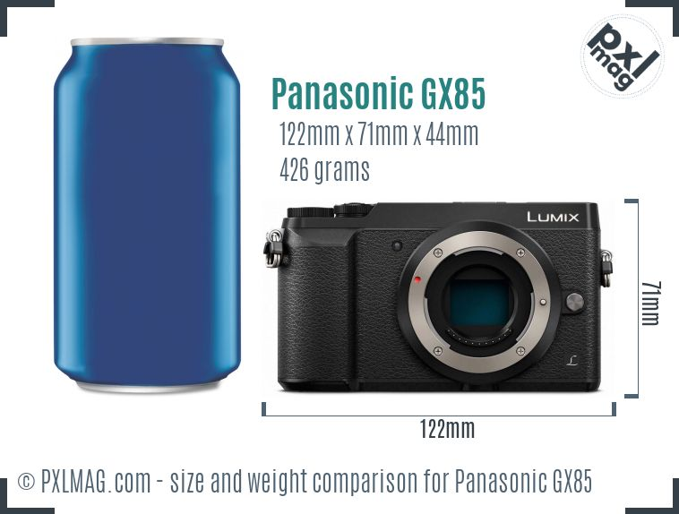 Panasonic Lumix DMC-GX85 dimensions scale