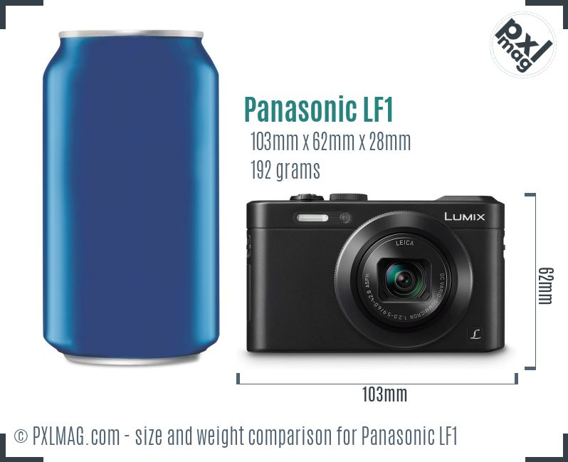 Panasonic Lumix DMC-LF1 dimensions scale