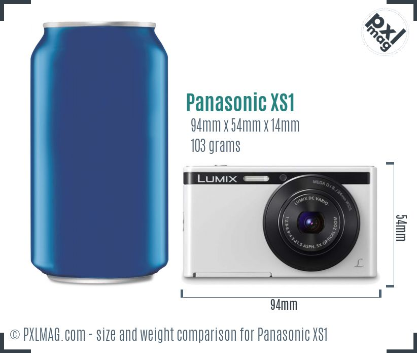Panasonic Lumix DMC-XS1 dimensions scale