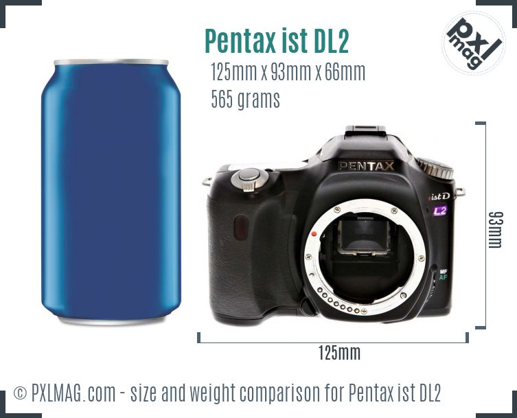 Pentax ist DL2 dimensions scale