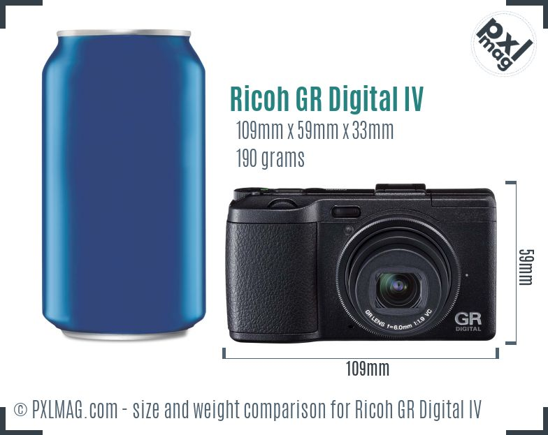Ricoh GR Digital IV dimensions scale