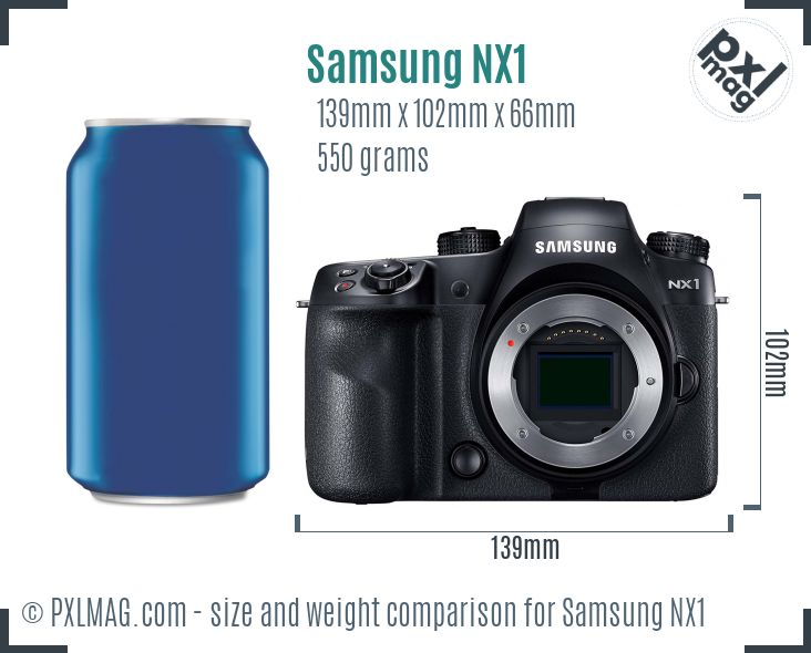 Samsung NX1 dimensions scale