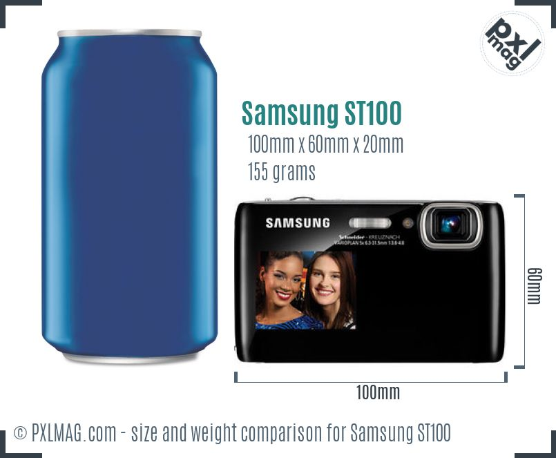 Samsung ST100 dimensions scale