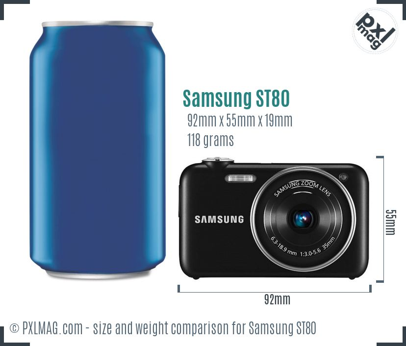 Samsung ST80 dimensions scale