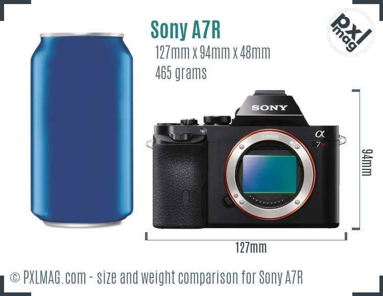 Sony Alpha A7R dimensions scale