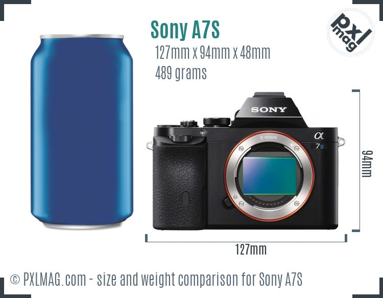 Sony Alpha A7S dimensions scale