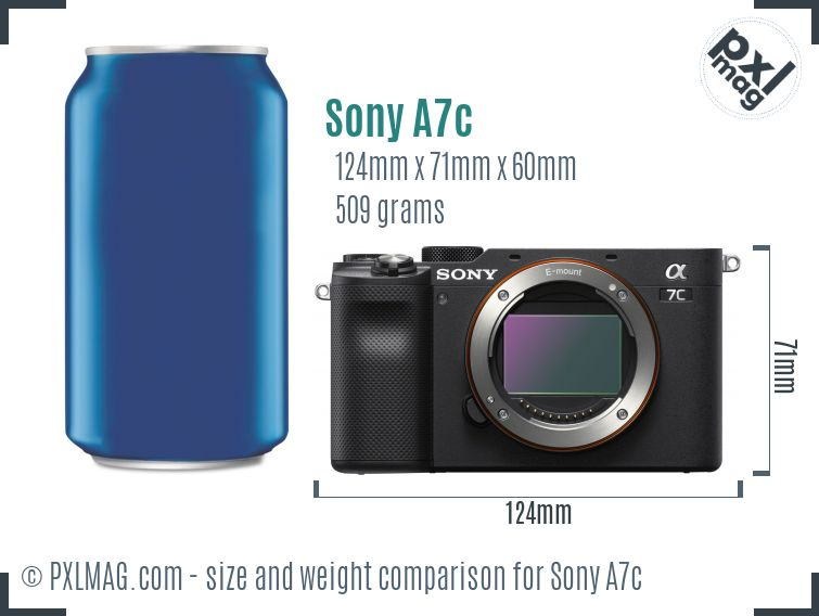 Sony Alpha A7c dimensions scale