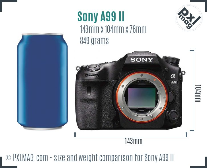Sony Alpha A99 II dimensions scale