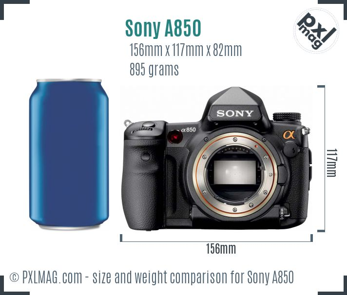 Sony Alpha DSLR-A850 dimensions scale