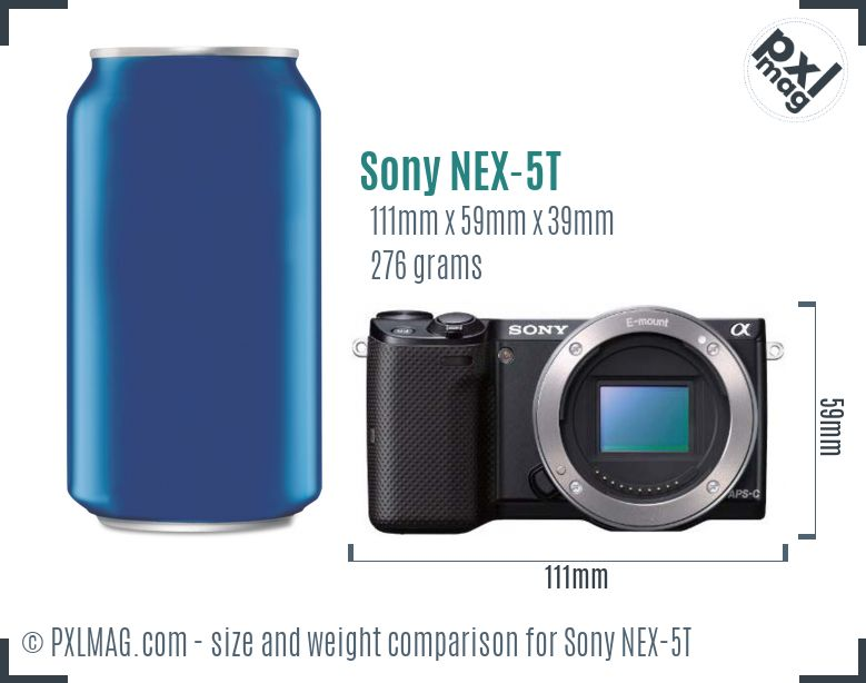 Sony Alpha NEX-5T dimensions scale