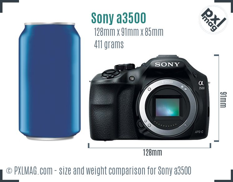 Sony Alpha a3500 dimensions scale