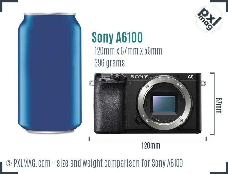 Sony Alpha a6100 dimensions scale