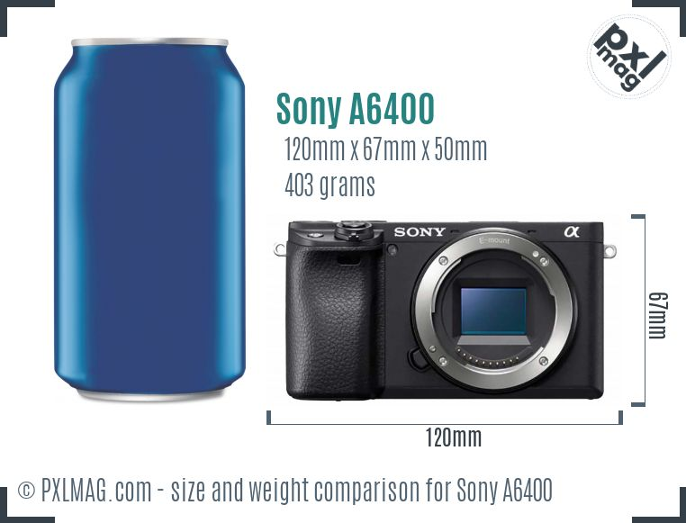 Sony Alpha a6400 dimensions scale