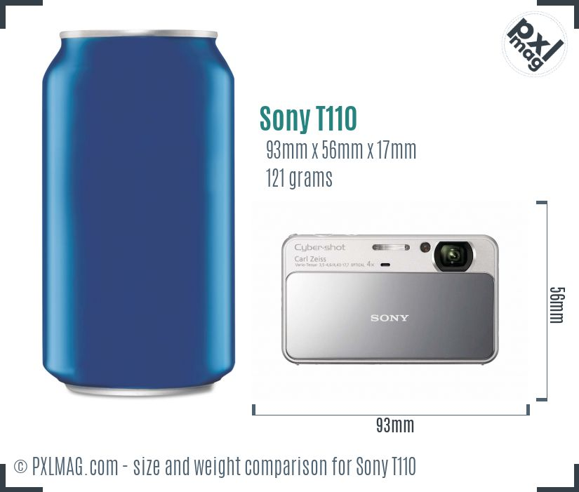 Sony Cyber-shot DSC-T110 dimensions scale