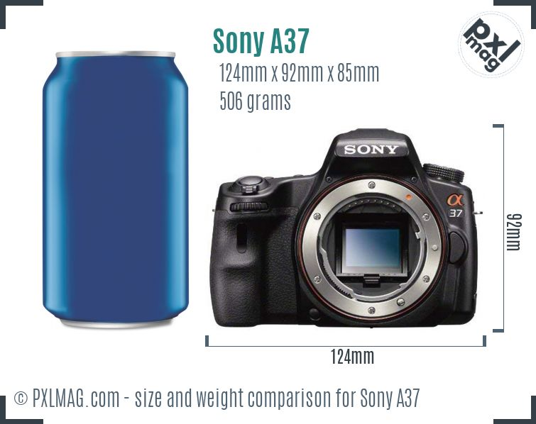 Sony SLT-A37 dimensions scale