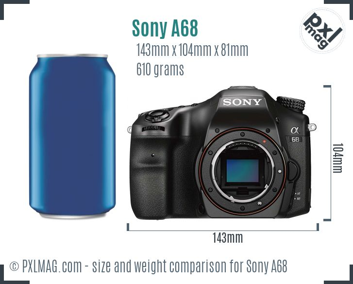 Sony SLT-A68 dimensions scale