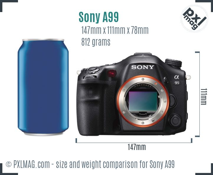 Sony SLT-A99 dimensions scale