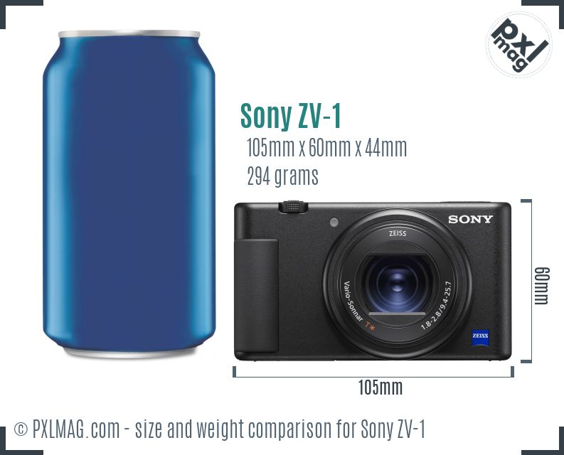 Sony ZV-1 dimensions scale