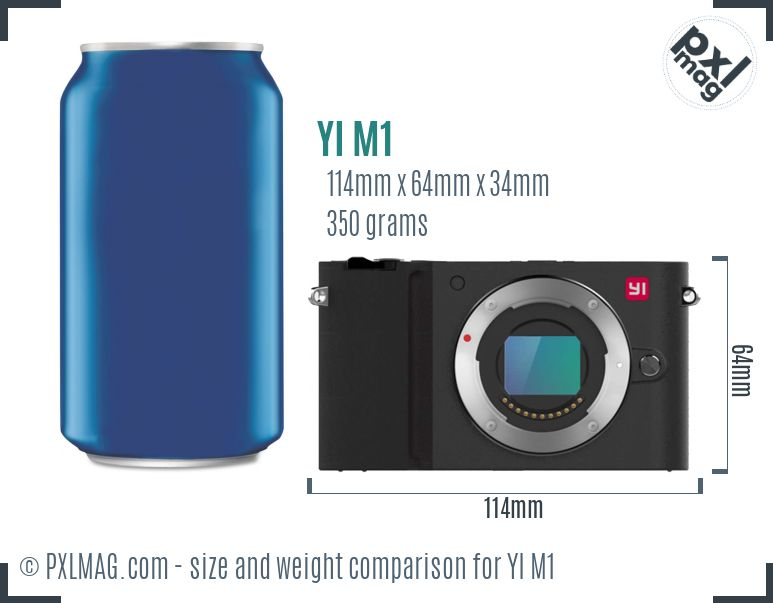 YI M1 dimensions scale
